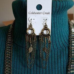 Shimmer chain earrings